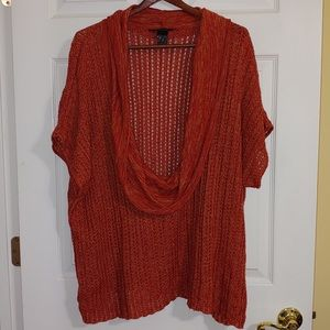 Orange Deep Cowl Neck Sweater (26)